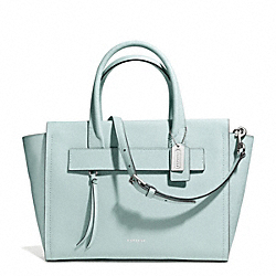 COACH BLEECKER RILEY CARRYALL IN SAFFIANO LEATHER - SILVER/DUCK EGG BLUE - F30149