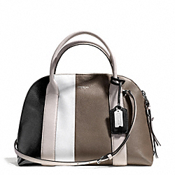 COACH BLEECKER COLORBLOCK LEATHER PRESTON SATCHEL - SVCX1 - F30151