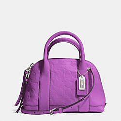 BLEECKER SIGNATURE EMBOSSED MINI PRESTON SATCHEL - f30152 - SVCKY