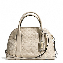 COACH BLEECKER SIGNATURE EMBOSSED PRESTON SATCHEL - GOLD/ECRU - F30153