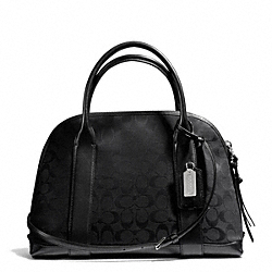 COACH BLEECKER SIGNATURE PRESTON SATCHEL - SILVER/BLACK/BLACK - F30158