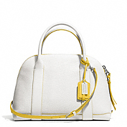 COACH BLEECKER EDGEPAINT LEATHER PRESTON SATCHEL - SILVER/WHITE/SUNGLOW - F30165
