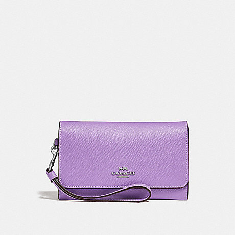 COACH FLAP PHONE WALLET - IRIS/SILVER - F30205