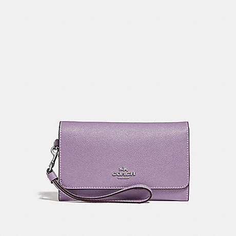 COACH FLAP PHONE WALLET - JASMINE/SILVER - F30205