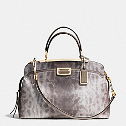 COACH MADISON PINNACLE ANDIE IN SPOTTED LIZARD EMBOSSED LEATHER - LIGHT GOLD/SILVER - F30237