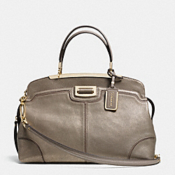 COACH MADISON ANDIE SATCHEL IN PINNACLE SPRAY METALLIC LEATHER - LIGHT GOLD/SILT - F30241