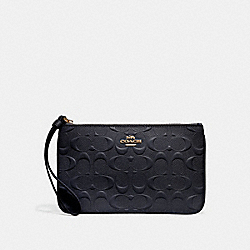 LARGE WRISTLET IN SIGNATURE LEATHER - MIDNIGHT/IMITATION GOLD - COACH F30248