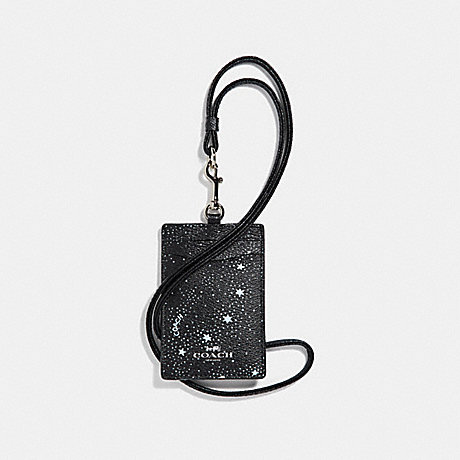 COACH ID LANYARD WITH CELESTIAL PRINT - SILVER/BLACK - f30251