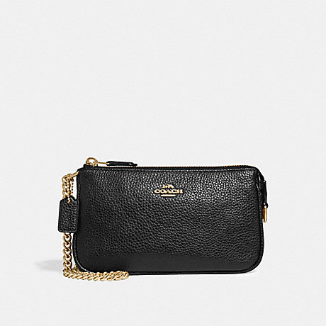COACH LARGE WRISTLET 19 - BLACK/LIGHT GOLD - F30258
