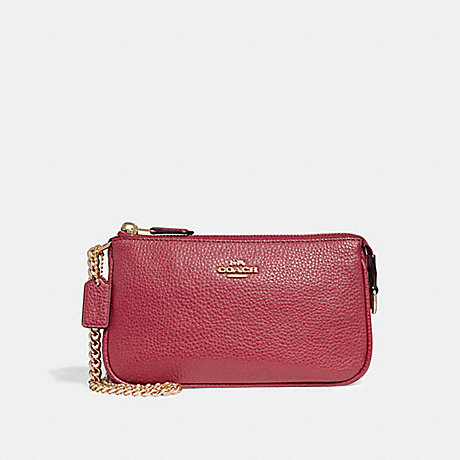 COACH LARGE WRISTLET 19 - TRUE RED/LIGHT GOLD - F30258