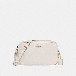 CROSSBODY POUCH - CHALK/GOLD - COACH F30259