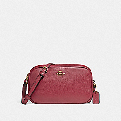 COACH CROSSBODY POUCH - TRUE RED/LIGHT GOLD - F30259