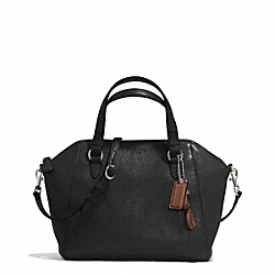 PARK LEATHER MINI SATCHEL - f30281 - SILVER/BLACK
