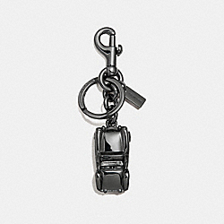 COACH CONVERTIBLE CAR KEY RING - DULL GUNMETAL - F30317