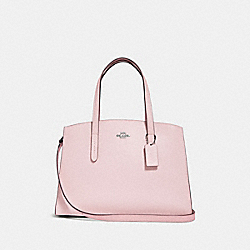 CHARLIE CARRYALL WITH PRINTED INTERIOR - ICE PINK/SILVER - COACH F30318