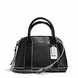 COACH BLEECKER EDGEPAINT LEATHER MINI PRESTON SATCHEL - SILVER/BLACK/WHITE - F30344