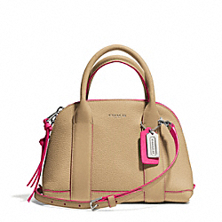 COACH BLEECKER EDGEPAINT LEATHER MINI PRESTON SATCHEL - SILVER/CAMEL/PINK RUBY - F30344
