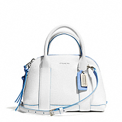 COACH BLEECKER EDGEPAINT LEATHER MINI PRESTON SATCHEL - SILVER/WHITE/BLUE OXFORD - F30344