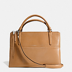 COACH BOROUGH BAG IN RETRO GLOVE TAN LEATHER - UE/CAMEL - F30348