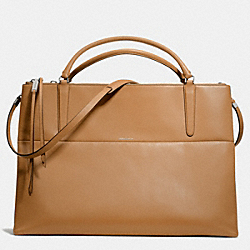 COACH THE RETRO GLOVE TAN LEATHER XL BOROUGH BAG - UE/CAMEL - F30352