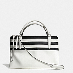 COACH THE BAR STRIPE BOROUGH BAG - UE/IVORY MULTICOLOR - F30354