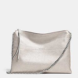 THE METALLIC LEATHER HIGHRISE SHOULDER BAG - f30368 - UE/SILVER