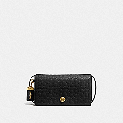 DINKY IN SIGNATURE LEATHER - OL/BLACK - COACH F30427
