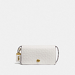 DINKY IN SIGNATURE LEATHER - OL/CHALK - COACH F30427