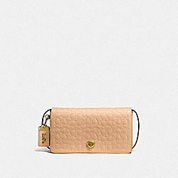 DINKY IN SIGNATURE LEATHER - OL/BEECHWOOD - COACH F30427