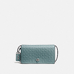 DINKY IN SIGNATURE LEATHER - SAGE/SILVER - COACH F30427