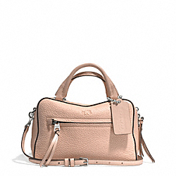 COACH BLEECKER PEBBLED LEATHER SMALL TOASTER SATCHEL - SILVER/ROSE PETAL - F30446