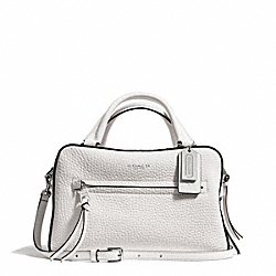 BLEECKER PEBBLED LEATHER SMALL TOASTER SATCHEL - f30446 - SILVER/WHITE