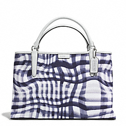 THE WAVY GINGHAM CANVAS EAST/WEST TOWN TOTE - f30470 - UECRY