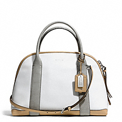 COACH BLEECKER MIXED MEDIA PRESTON SATCHEL - SILVER/WHITE MULTICOLOR - F30485