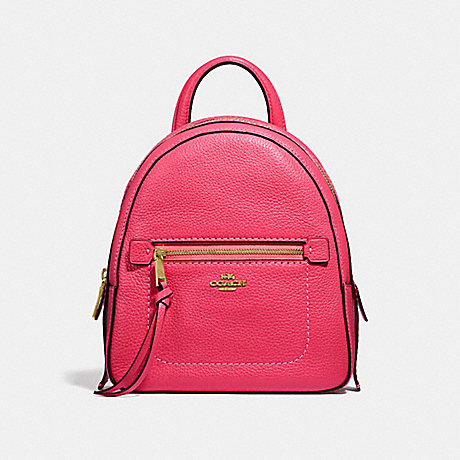 COACH ANDI BACKPACK - NEON PINK/LIGHT GOLD - F30530