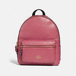 MEDIUM CHARLIE BACKPACK - STRAWBERRY/IMITATION GOLD - COACH F30550