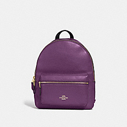 MEDIUM CHARLIE BACKPACK - GOLD/BLACKBERRY - COACH F30550