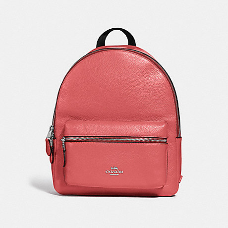 COACH MEDIUM CHARLIE BACKPACK - CORAL/SILVER - F30550