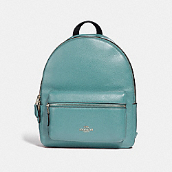 MEDIUM CHARLIE BACKPACK - MARINE/SILVER - COACH F30550