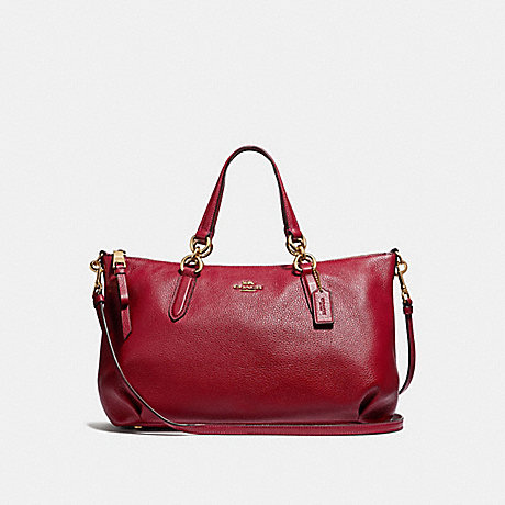 COACH ALLY SATCHEL - RUBY/LIGHT GOLD - F30565