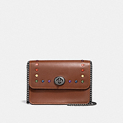 BOWERY CROSSBODY IN SIGNATURE CANVAS WITH RAINBOW RIVETS - SADDLE 2 MULTI/BLACK ANTIQUE NICKEL - COACH F30575