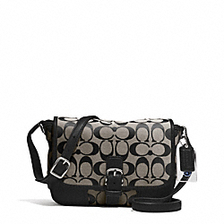 COACH HADLEY SIGNATURE FIELD BAG - SILVER/BLACK/WHITE/BLACK - F30601