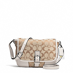 COACH HADLEY SIGNATURE FIELD BAG - SILVER/LIGHT KHAKI/PARCHMENT - F30601