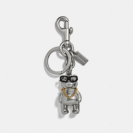 COACH 3D HIP-HOP BEAR BAG CHARM - SILVER/SILVER - F30683