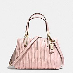 COACH MADISON GATHERED LEATHER MINI SATCHEL - LIGHT GOLD/NEUTRAL PINK - F30782