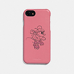 IPHONE 6S/7/8/X/XS CASE WITH ROLLERSKATE MINNIE MOUSE - VINTAGE PINK - COACH F30805