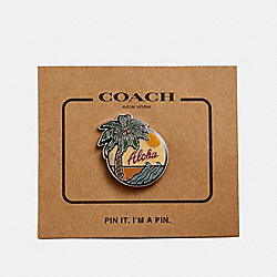 PALM TREE PIN - f30911 - MULTICOLOR