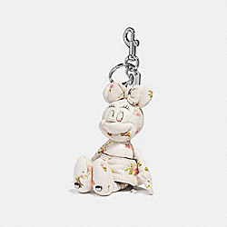 MINNIE MOUSE DOLL BAG CHARM - SV/CHALK - COACH F30955