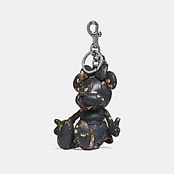 MINNIE MOUSE DOLL BAG CHARM - SILVER/NAVY - COACH F30955