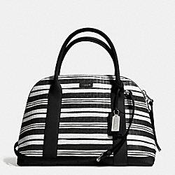 BLEECKER EMBOSSED WOVEN LEATHER PRESTON SATCHEL - f31004 - SVCX6